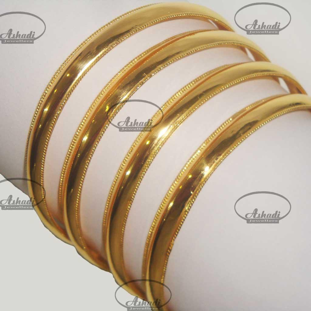 l room bracelet hollow bangles gold plain tube expandable property yellow bangle
