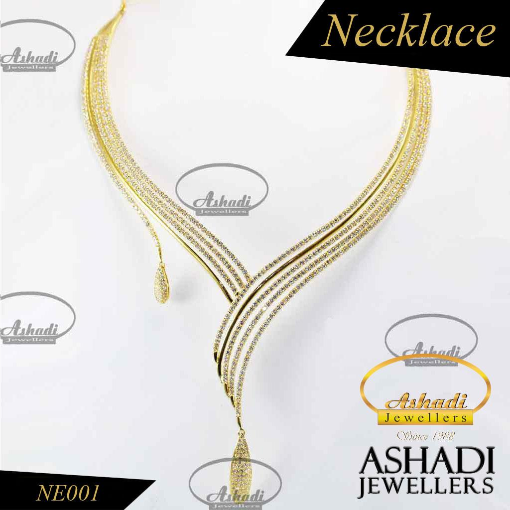 22k Gold Stone Necklace